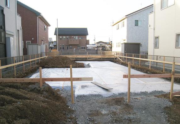 基礎・防湿シートの施工